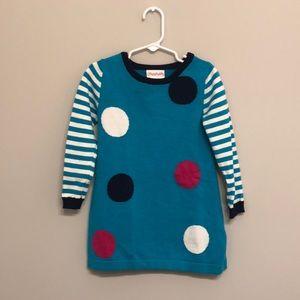 Flapadoodles Polka Dot Toddler Dress - Size 4